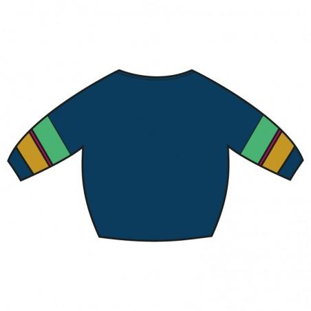 Knitted navy blue 'OLGA'...