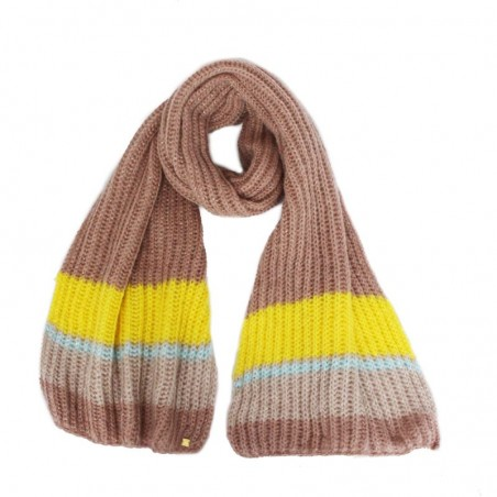 Echarpe OLGA poudre tricot