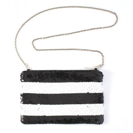 pochette Marin - noir et blanc