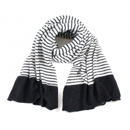 'Lou' scarf with black &...