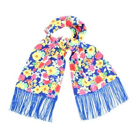 foulard 'Fleur' outremer