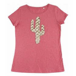 t-shirt Cactus cranberry