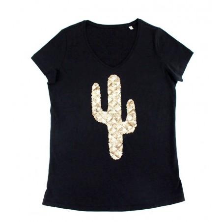 t-shirt Cactus noir