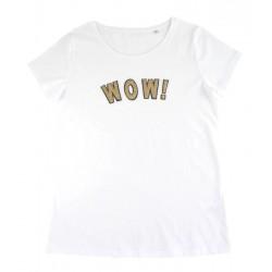 t-shirt WOW! blanc