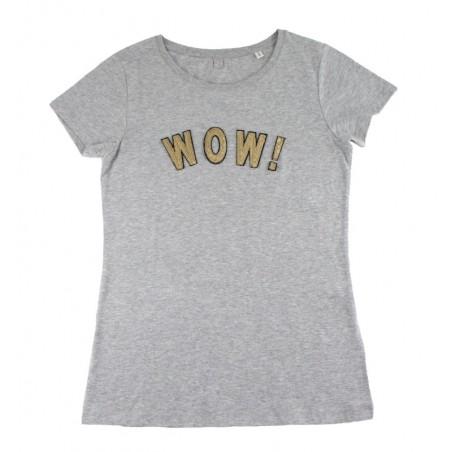 t-shirt WOW! gris