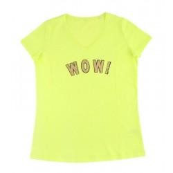 t-shirt WOW! jaune