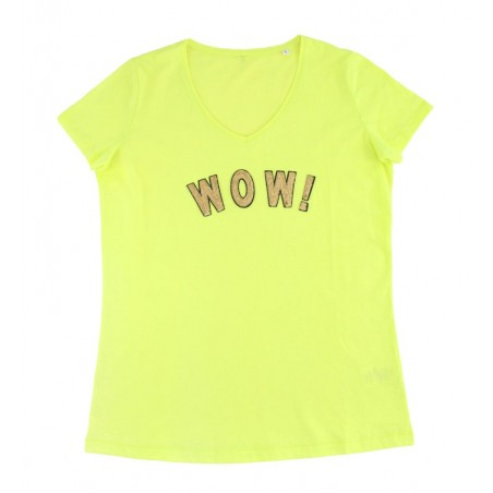 t-shirt WOW! jaune