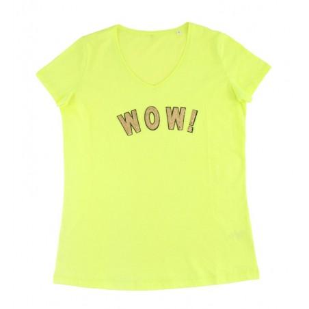 yellow 'WOW!' t-shirt