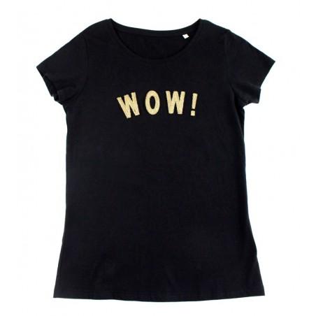 black 'WOW!' t-shirt