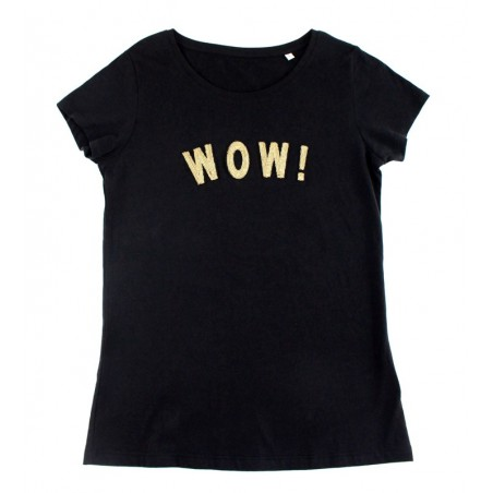 t-shirt WOW! noir