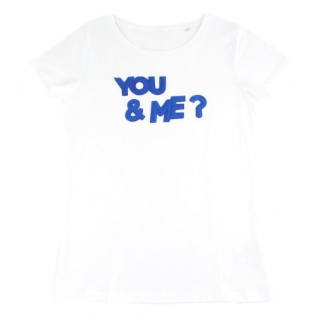 t-shirt 'YOU&ME?' blanc