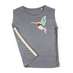 t-shirt colibri en lin