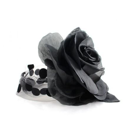 bandeau Rose à pois